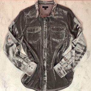 LIKE NEW JCrew Classic Fit Shirt Pewter Velvet 12T